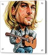 Kurt Cobain Acrylic Print by Art