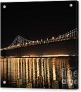 L E D Lights On The Bay Bridge Acrylic Print by David Bearden