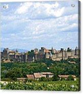 La Cite De Carcassonne Acrylic Print by France  Art