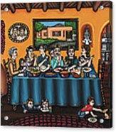 La Familia Or The Family Acrylic Print by Victoria De Almeida