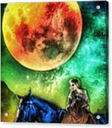 La Luna Acrylic Print by Mo T