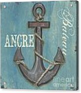 La Mer Ancre Acrylic Print by Debbie DeWitt