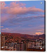 La Paz Twilight Acrylic Print by James Brunker
