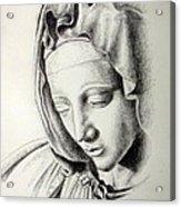La Pieta Madonna Acrylic Print by Heather Calderon