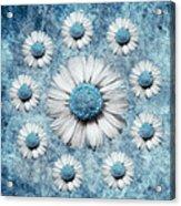 La Ronde Des Marguerites - Blue V02 Acrylic Print by Variance Collections