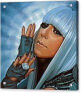 Lady Gaga Acrylic Print by Paul Meijering