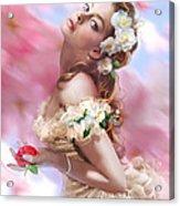 Lady Of The Camellias Acrylic Print by Drazenka Kimpel