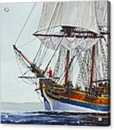 Lady Washington And Captain Gray Acrylic Print by James Williamson