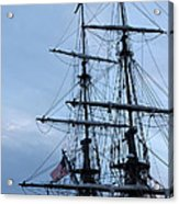 Lady Washington's Masts Acrylic Print by Heidi Smith
