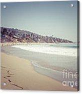 Laguna Beach Retro Picture Acrylic Print by Paul Velgos