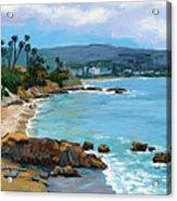 Laguna Beach Winter Acrylic Print by Alice Leggett