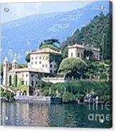 Lake Como Palace Acrylic Print by Greta Corens