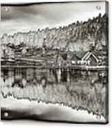 Lake House Reflection Acrylic Print by Ron White