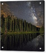 Lake Irene's Milky Way Mirror Acrylic Print by Mike Berenson