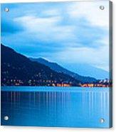 Lake Maggiore Before Sunrise Acrylic Print by Susan Schmitz