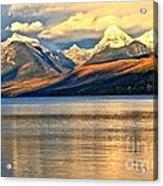 Lake Mcdonald Sunset Acrylic Print by Adam Jewell
