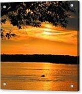 Lake Panarama Sunset Acrylic Print by Bob Hislop