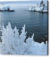 Lake Superior Blues Acrylic Print by Sandra Updyke