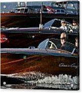 Lake Tahoe Speedboats Acrylic Print by Steven Lapkin
