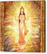 Lakshmi The Goddess Of Fortune And Abundance Acrylic Print by Ananda Vdovic