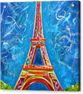 L'amour A Paris Acrylic Print by Teshia Art