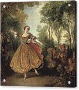 Lancret, Nicolas 1690-1743. Mlle Acrylic Print by Everett