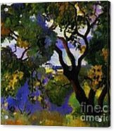 Landscape At St Tropez  2 Acrylic Print by Pg Reproductions