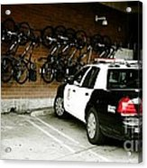 Lapd Cruiser And Police Bikes Acrylic Print by Nina Prommer