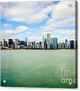 Large Picture Of Downtown Chicago Skyline Acrylic Print by Paul Velgos