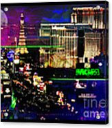 Las Vegas Igniting Your Fire Acrylic Print by Christine Mayfield