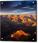 Last Light In The Grand Canyon Acrylic Print by Andrew Soundarajan
