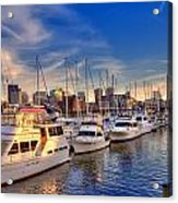 Late Afternoon At Constitution Marina - Charlestown Acrylic Print by Joann Vitali