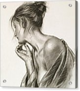 Laura In Deep Thought Acrylic Print by John Silver