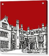 Laurel Hall In Red Acrylic Print by Adendorff Design