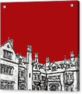 Laurel Hall In Red -portrait- Acrylic Print by Adendorff Design