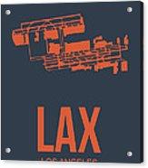 Lax Airport Poster 3 Acrylic Print by Naxart Studio