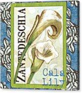 Lazy Daisy Lily 1 Acrylic Print by Debbie DeWitt