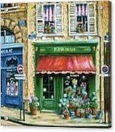 Le Fleuriste Acrylic Print by Marilyn Dunlap