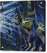 Le Forze Di Una Strada Acrylic Print by Umberto Boccioni