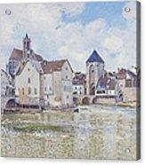 Le Pont De Moret Acrylic Print by Alfred Sisley