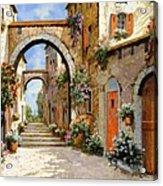 Le Porte Rosse Sulla Strada Acrylic Print by Guido Borelli