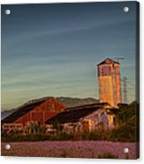Leaning Silo  Acrylic Print by Bill Gallagher