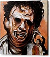 Leatherface Unleashed Acrylic Print by Al  Molina