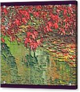 Leaves On The Creek 3 With Small Border 3 Acrylic Print by L Brown
