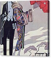 Leaving For The Casino Acrylic Print by Georges Barbier
