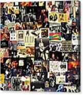 Led Zeppelin Collage Acrylic Print by Taylan Soyturk