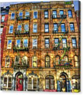 Led Zeppelin Physical Graffiti Building In Color Acrylic Print by Randy Aveille