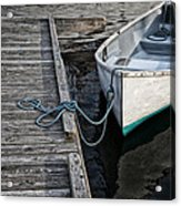 Left At The Dock Acrylic Print by Karol Livote