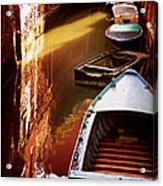Legata Nel Canale Acrylic Print by Micki Findlay
