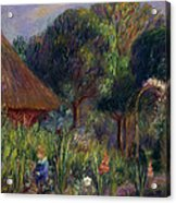 Lenna By A Summer House Acrylic Print by William James Glackens